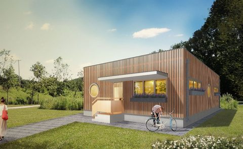 2 bedroom house prototype perspective